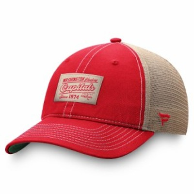 """ファナティックス メンズ キャップ """"Washington Capitals"""" Fanatics Branded True Classics Trucker Snapback Hat - Red/Natural"""