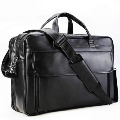 MasaKawa ビジネスバッグ メンズ 本革 厚手牛革 2way a4対応 防水 15.6インチPCバッグ 大容量 通勤 出張 ブラック