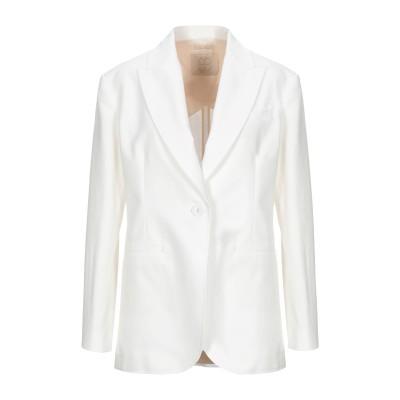 トゥルー ロイヤル TRUE ROYAL テーラードジャケット ホワイト 44 コットン 97% / ポリウレタン 3% テーラードジャケット