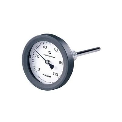 バイメタル温度計 BM-T-75P 0〜100℃ 100L ※取寄品 佐藤計量器 2090-00