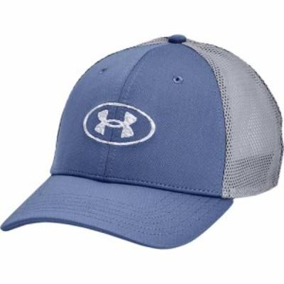 アンダーアーマー Under Armour メンズ キャップ 帽子 Blitzing Trucker Mineral Blue/Mod Gray