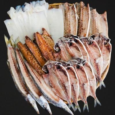 松原 送料込み干物19枚セット 上トロあじトロさば味醂干し塩サバ特上本かますイカ 父の日ギフトお取り寄せ送料無料鯵鯖アジイカひもの詰め合わせランキング