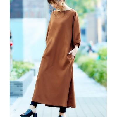 【2点セット】Tシャツワンピース+レギンスパンツ (ワンピース)Dress