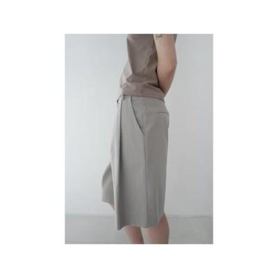 AFTERMONDAY レディース ショートパンツ wide cotton pintuck half pants