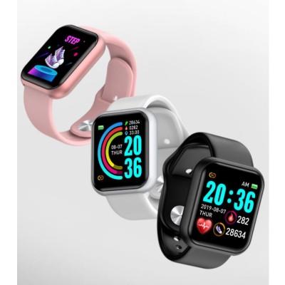 スマートウォッチ心拍数 血圧計 心拍 血中酸素濃度計 IP68防水 着信通知 腕時計 ブレスレット(1)