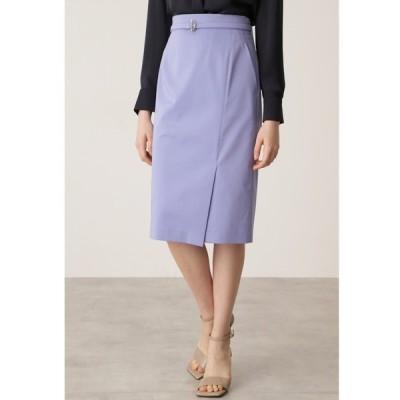 スカート Tバーベルト付きタイトスカート