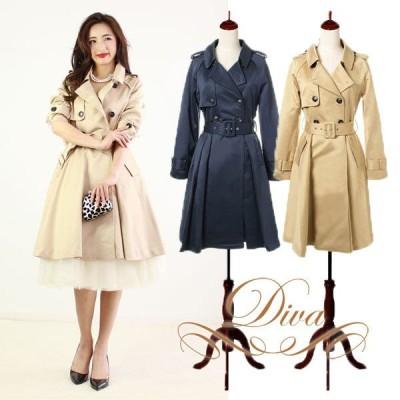 ドレッシートレンチコート コート アウター 結婚式 フォーマル 長袖 大きいサイズ レディース