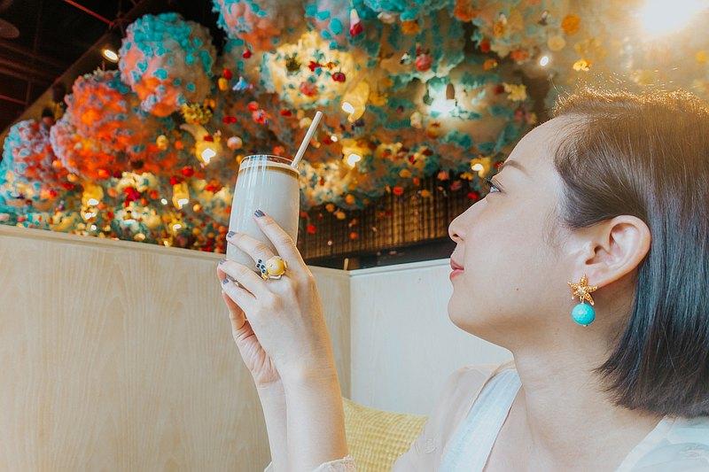 土耳其藍色瑪瑙 悠遊精靈系列 海星耳環 可訂製耳夾