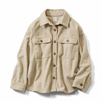 ざっくりシャツジャケット〈ベージュ〉 HIROMI YOSHIDA. フェリシモ FELISSIMO