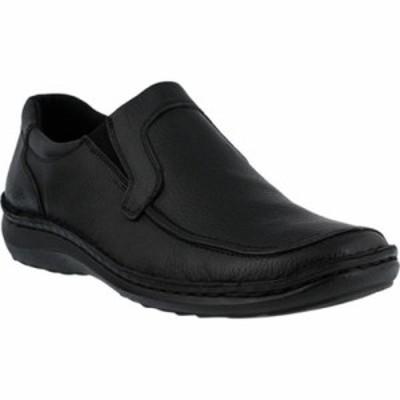 スプリングステップ ローファー Niccolo Loafer Black Tumbled Leather