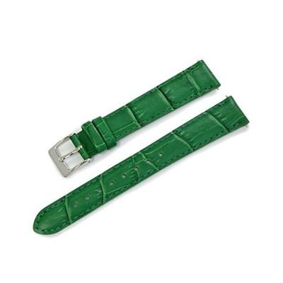 CASSIS[カシス] カーフ 型押し 時計ベルト 裏面防水素材 AVALLON アバロン 14mm グリーン 交換用工具付き X1022238075014M