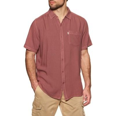 リップカール Rip Curl メンズ 半袖シャツ トップス New Ventura Short Sleeve Shirt Washed Red