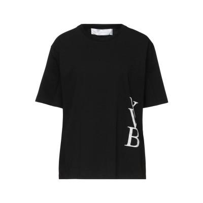 VICTORIA, VICTORIA BECKHAM T シャツ ブラック L コットン 100% / ポリウレタン T シャツ