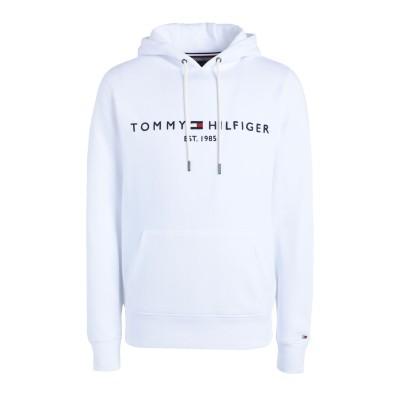 YOOX - トミーヒルフィガー TOMMY HILFIGER スウェットシャツ ホワイト M オーガニックコットン 64% / ポリエステル 36