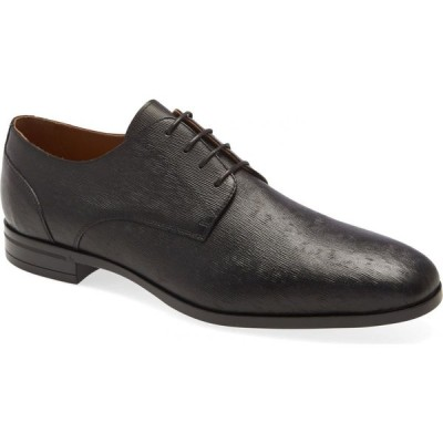 ヒューゴ ボス BOSS メンズ 革靴・ビジネスシューズ ダービーシューズ シューズ・靴 Portland Plain Toe Derby Black