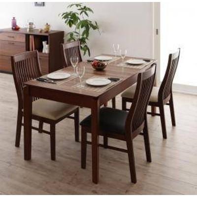 ダイニングテーブルセット 4人用 椅子 おしゃれ 伸縮式 伸長式 安い 北欧 食卓 5点 ( 机+チェア4脚 ) 幅120-180 デザイナーズ クール ス
