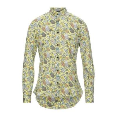 NEILL KATTER 柄入りシャツ  メンズファッション  トップス  シャツ、カジュアルシャツ  長袖 ビタミングリーン