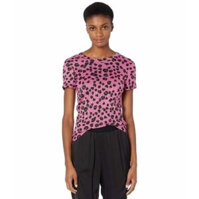 マイケルスターズ レディース シャツ トップス Shine Basic Band Crew T-Shirt in Leopard Print Majesty