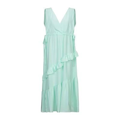 テーラ TELA 7分丈ワンピース・ドレス ライトグリーン XS シルク 100% 7分丈ワンピース・ドレス