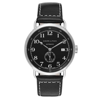 ハミルトン 腕時計 Hamilton メンズ H78415733 Khaki Navy Black Dial 40mm Leather Watch