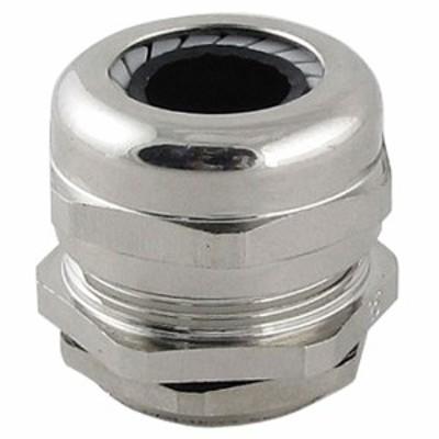 uxcell ケーブルグランド m25 25mm ステンレススチール プラスチック シルバートーン