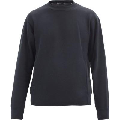 ゴールドウィン GOLDWIN メンズ スウェット・トレーナー トップス Crew-neck jersey sweatshirt Black