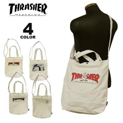 (公式) スラッシャー ショルダーバック THRASHER CANVAS 2WAY TOTE SHOULDER BAG M ショルダートート トートバック メンズ レディース ユニセックス 全4色