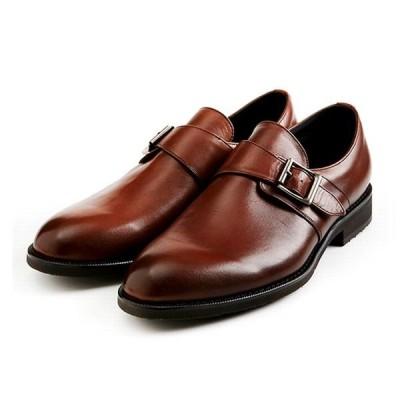 マドラス 靴 メンズ マドラスウォーク MW5908 ブラウン 4E EEEE 本革 防水 プレーン モンクストラップ メンズ ビジネスシューズ