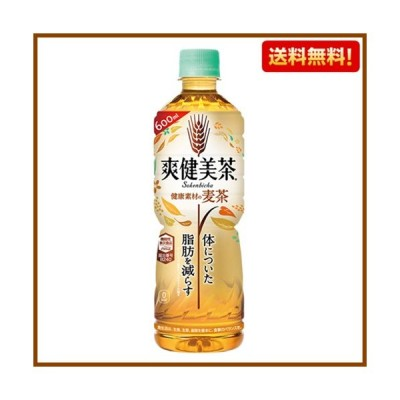 送料無料 爽健美茶 健康素材の麦茶 600mL PET 24本入 1ケース