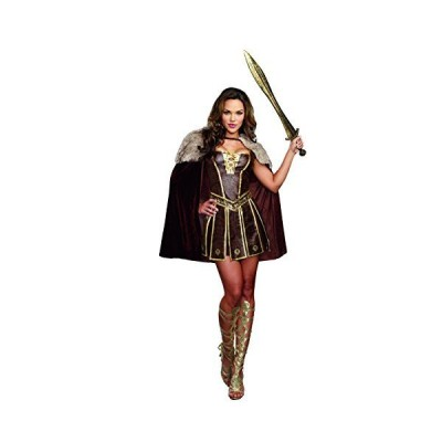 Dreamgirl Women's Victorious Beauty Warrior Costume, Brown, Large[並行輸入品]