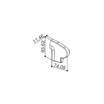 【YKK AP メンテナンス部品】 前枠コーナーキャップF型用 (HH2K-31224)