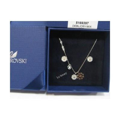 ジュエリーセット スワロフスキー Swarovski Duo Snowflake Set, Pendant & Earrings Crystal Authentic MIB 5169397