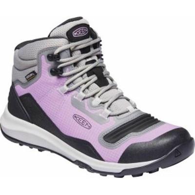 キーン レディース ブーツ・レインブーツ シューズ Women's Keen Tempo Flex Mid Waterproof Hiking Boot African Violet/Sharp Green