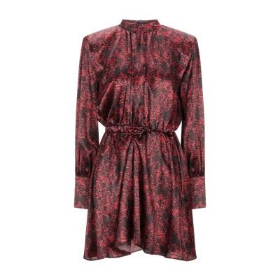 フェデリカ・トシ FEDERICA TOSI ミニワンピース&ドレス レッド 38 シルク 94% / ポリウレタン® 6% ミニワンピース&ドレス
