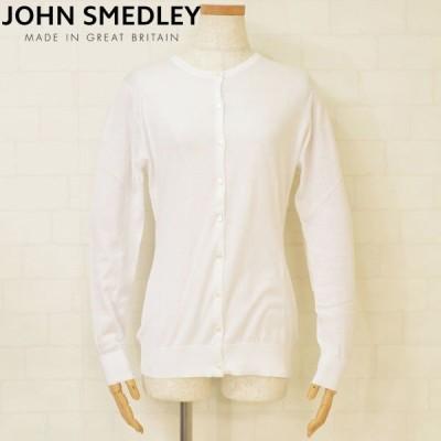 JOHN SMEDLEY ジョンスメドレー レディース 長袖ニットカーディガン SLIM FIT ejd17s504 ISLINGTON ホワイト