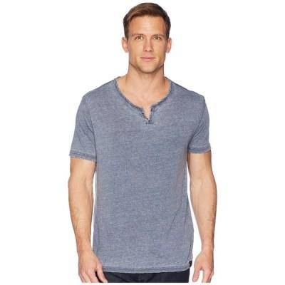 ラッキーブランド シャツ トップス メンズ Burnout Button Notch Shirt American Navy