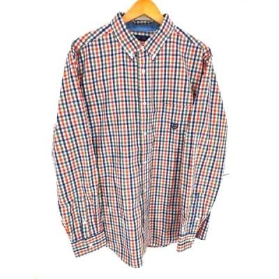 チャップス CHAPS ボタンダウンギンガムチェックシャツ メンズ L 中古 210423