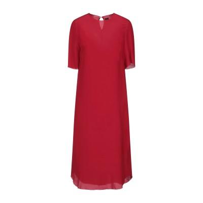 オスクレン OSKLEN 7分丈ワンピース・ドレス レッド L シルク 100% 7分丈ワンピース・ドレス