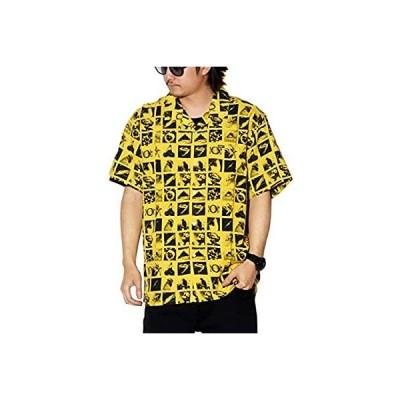 [OBEY(オベイ)] オープンカラー 半袖シャツ メンズ 総柄フォトプリント 181210239 イエロー M 大きいサイズ [並行輸入品]