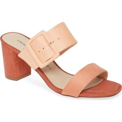 チャイニーズランドリー CHINESE LAUNDRY レディース サンダル・ミュール シューズ・靴 Yippy Block Heel Sandal Sherbet Suede