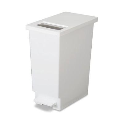 モダン ゴミ箱/ダストボックス 〔45L ホワイト〕 ユニード プッシュ&ペダル45S 〔リビング オフィス 店舗〕