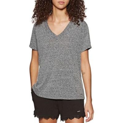 オニール O'Neill レディース Tシャツ Vネック トップス Essential V Neck Short Sleeve T-Shirt Asphalt