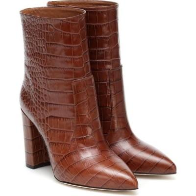 パリ テキサス Paris Texas レディース ブーツ ショートブーツ シューズ・靴 snake-effect leather ankle boots Marrone