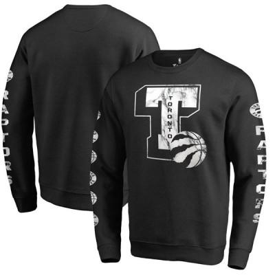 トロント・ラプターズ Fanatics Branded Letterman Fleece Crew Neck スウェットシャツ - Black