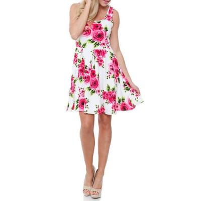 ホワイトマーク レディース ワンピース トップス Crystal Floral Print Dress