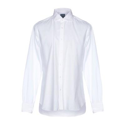 DANDYLIFE by BARBA シャツ ホワイト 42 コットン 100% シャツ