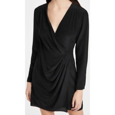 クラブ モナコ Club Monaco レディース ワンピース ドレープ ワンピース・ドレス Side Drape Mini Dress Black