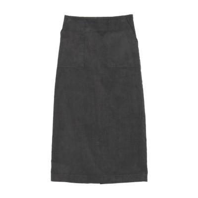 ティティベイト titivate ウエストバックゴムコーデュロイタイトスカート (チャコール)