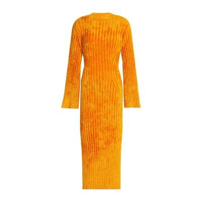 プリングル オブ スコットランド PRINGLE OF SCOTLAND 7分丈ワンピース・ドレス オレンジ XS レーヨン 74% / ナイロン