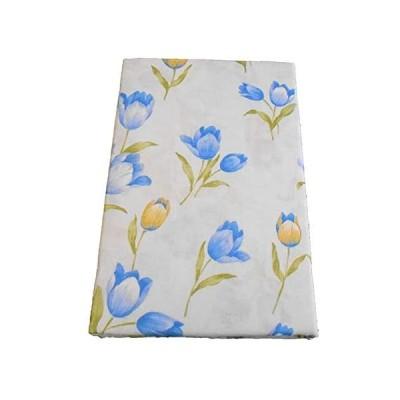 日本製 ガーゼ 毛布カバー シングルサイズ 145×205cm 綿100% チューリップの花柄 (ブルー) (花柄/ブルー)